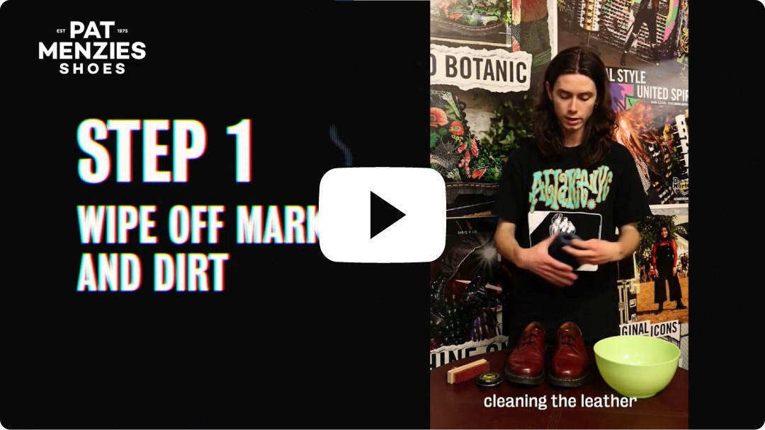 Dr Martens Shoe Care Tips from Pat Menzies Shoes
